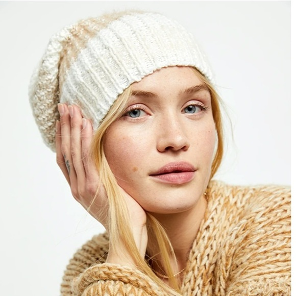 NEW Free People Cozy In Stripes Beanie